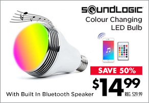 SoundLogic XT Mood LED Colour Changing Music Bulb